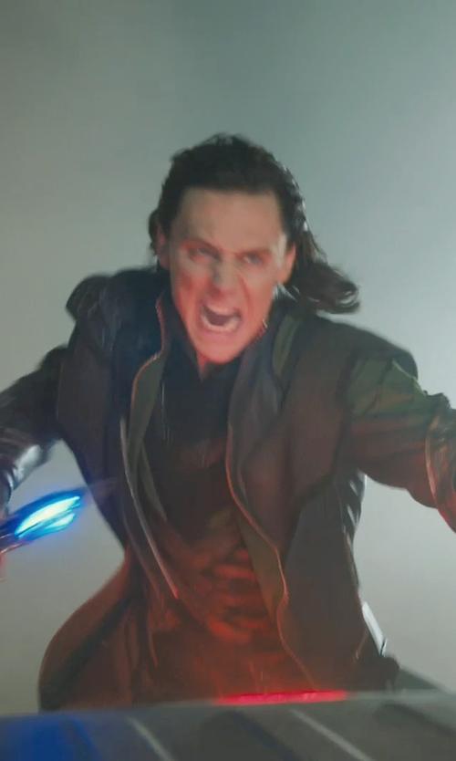 Tom Hiddleston with Alexandra Byrne (Costume Designer) Custom Made 'Loki' Costume in Marvel's The Avengers
