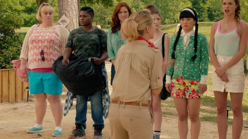 Ester Dean with Paige Jimmy Jimmy Skinny - Tigerlily Jeans in Pitch Perfect 2