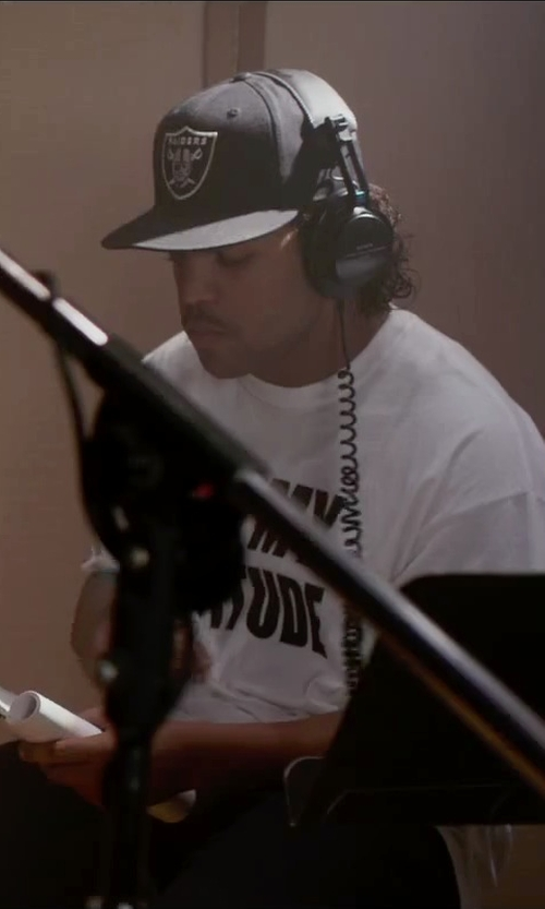 O'Shea Jackson Jr. with New Era Oakland Raiders Game Cap in Straight Outta Compton