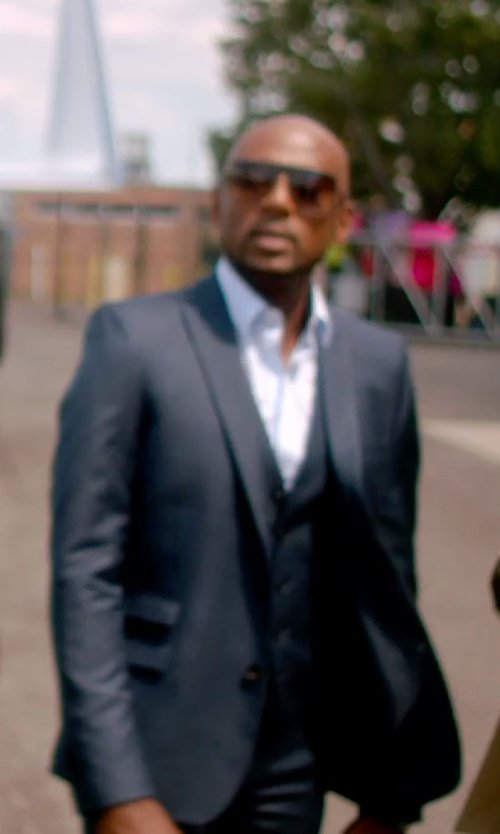 Romany Malco with Hugo Boss Grand Central Check Two-Piece Suit in Top Five