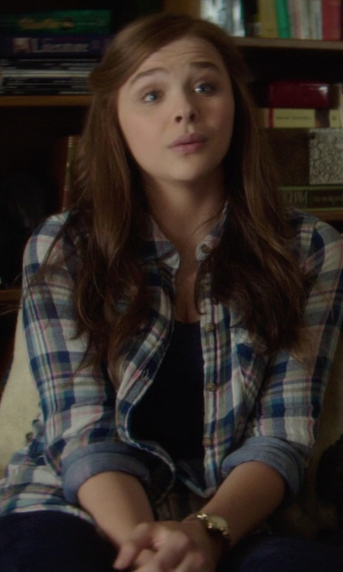 Chloë Grace Moretz with Ring Denim Pants in If I Stay