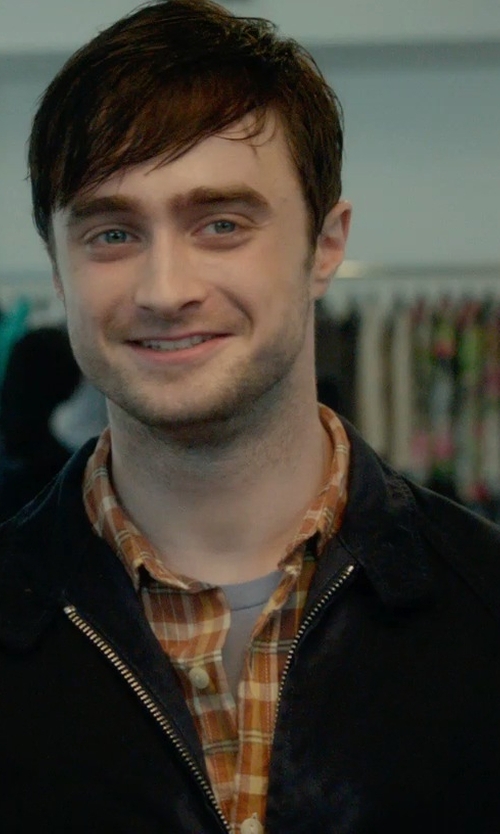 Daniel Radcliffe with Hugo Boss Macro Checked Sport Shirt in What If