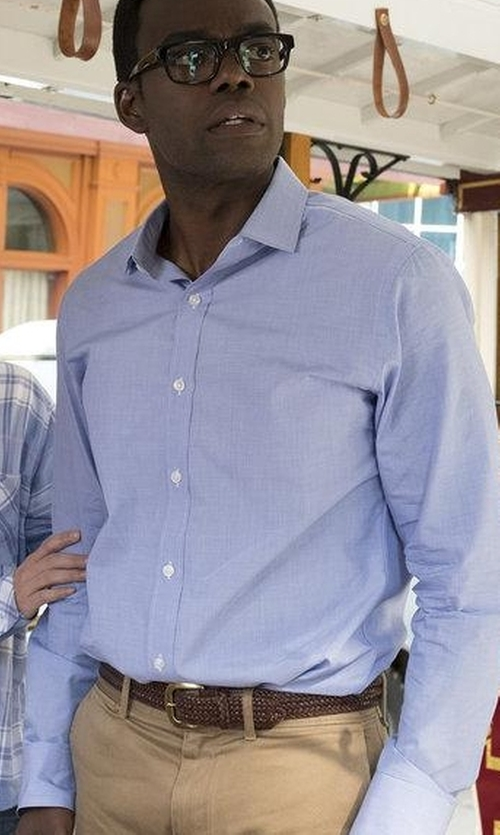 William Jackson Harper with Trafalgar Enzo Braided Leather Belt in The Good Place