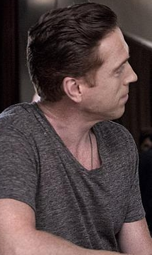 Damian Lewis with J.Crew Slim-Fit Cotton-Jersey T-Shirt in Billions