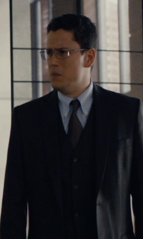Wentworth Miller with DKNY Black Solid Extra-Slim-Fit Suit in The Loft