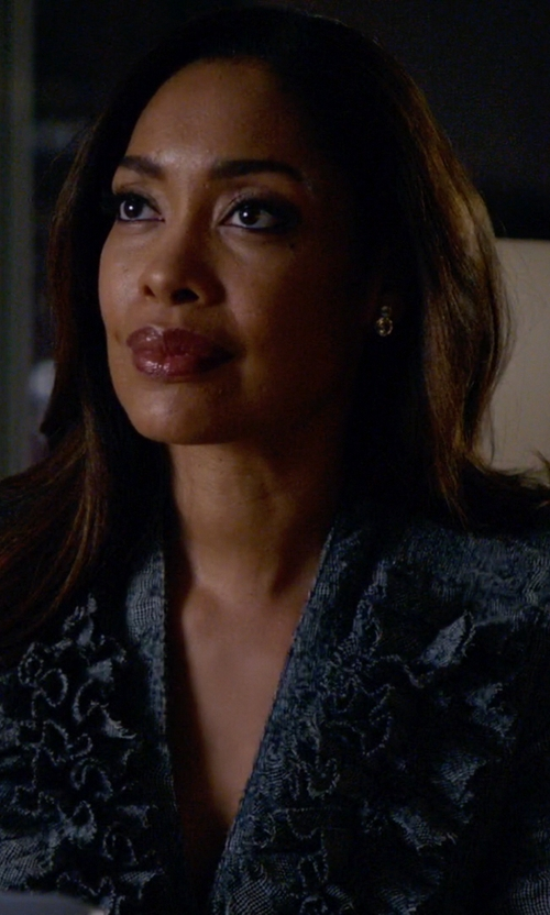 Gina Torres with John Hardy Citrine Drop Earrings in Suits