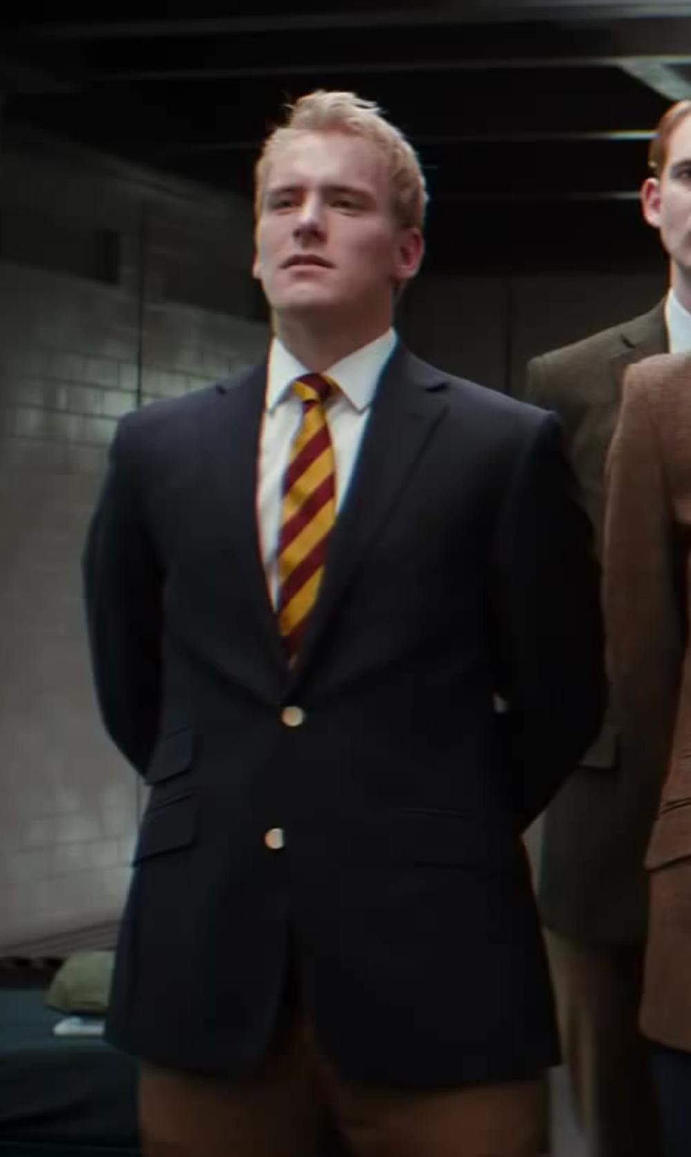 Nicholas Banks with John Varvatos Star U.S.A. Weston 2 Button Notch Blazer in Kingsman: The Secret Service