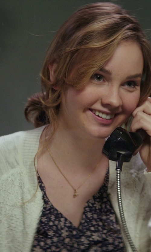 Liana Liberato with Dept 222 Crochet Lace Mix Open Cardigan in The Best of Me