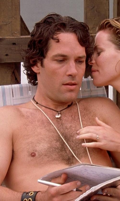 Paul Rudd with Zero Gravity Hawaii Hawaiian Shark Tooth Necklace in Wet Hot American Summer