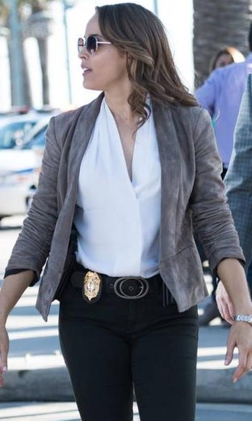 Jaina Lee Ortiz with Iro Nellisa Belt in Rosewood