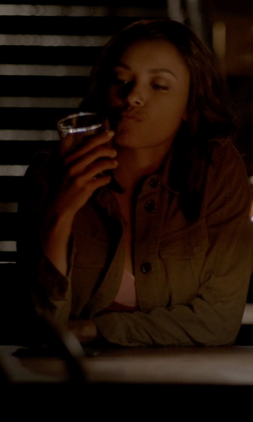 Kat Graham with Lucky Brand Core Military Jacket in The Vampire Diaries