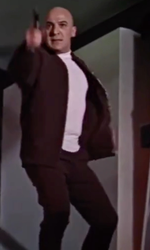 Telly Savalas with J. Crew 484 Fit Broken-In Chino Pants in On Her Majesty's Secret Service
