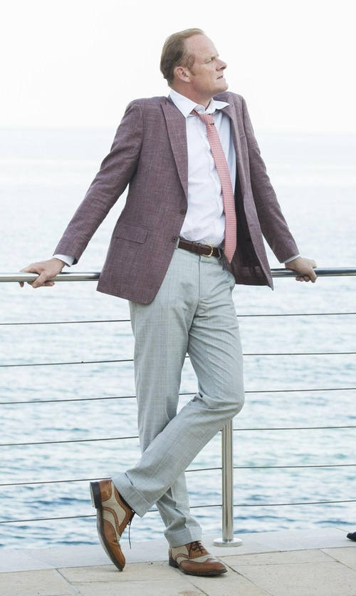 Alistair Petrie with Paul Malone Wing Tip Spectator Shoes in The Night Manager