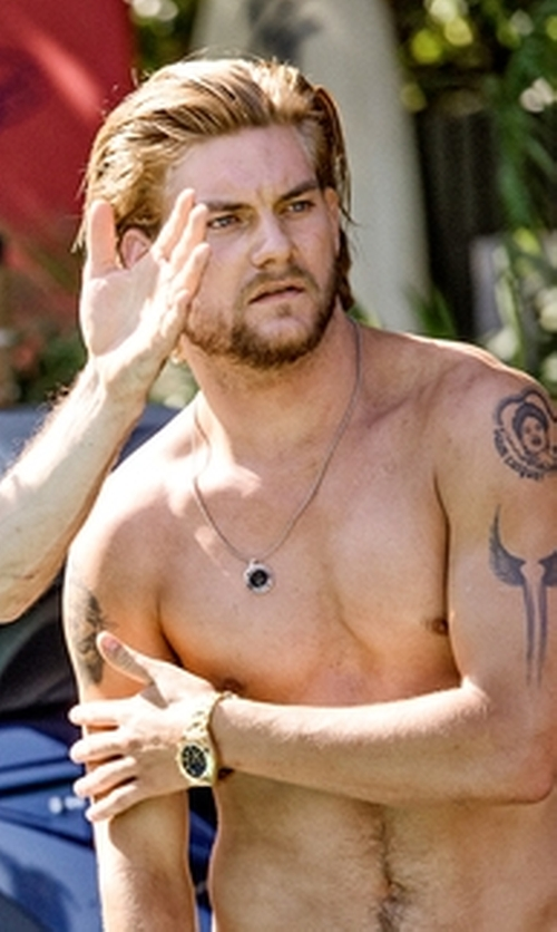 Jake Weary with Michael Kors Chronograph Lexington Bracelet Watch in Animal Kingdom