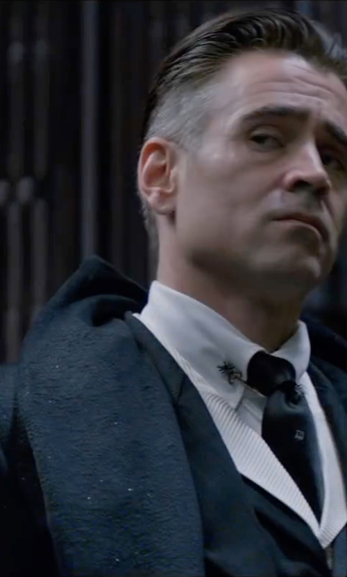 Colin Farrell with Michael Kors Mens Cotton-Blend Trench Coat in Fantastic Beasts and Where to Find Them