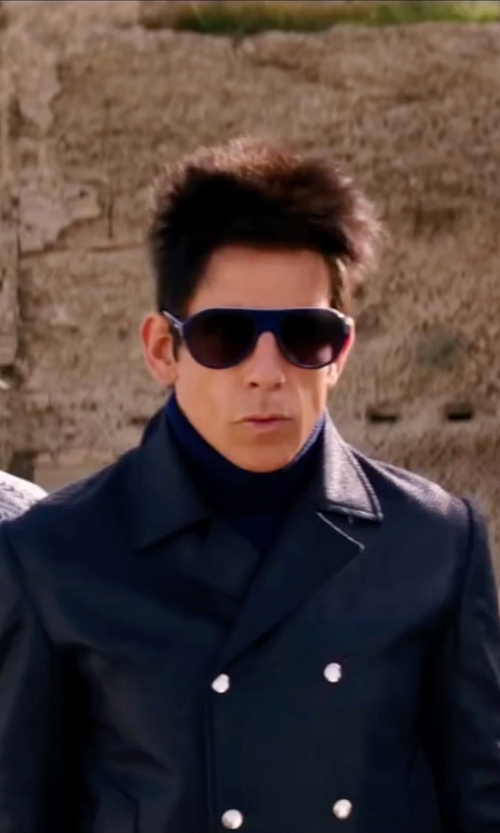 Ben Stiller with Fay Double Breasted Coat in Zoolander 2