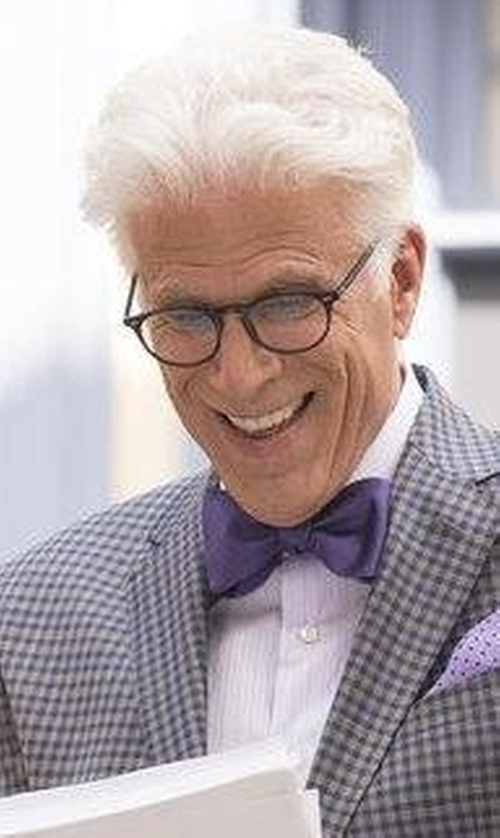 Ted Danson with Tommy Hilfiger Men's Core Solid Bow Tie in The Good Place