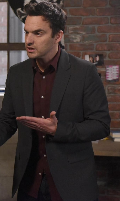 Jake Johnson with Rag & Bone Standard Issue Brushed Flannel Shirt in New Girl