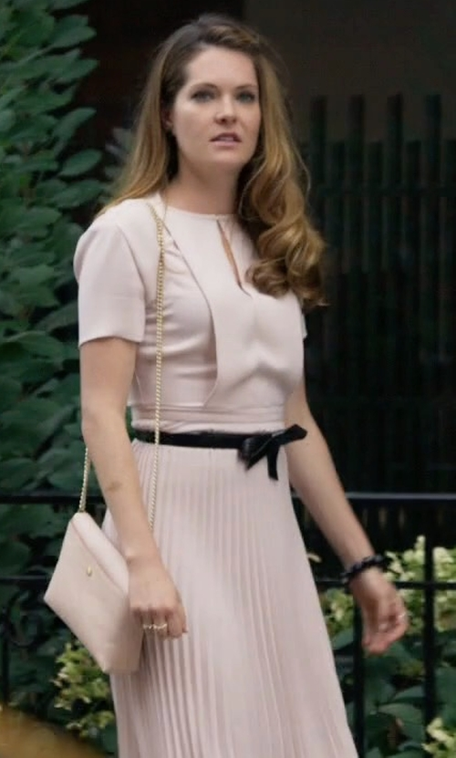 Meghann Fahy with BCBGMAXAZRIA Knotted Waist Belt in The Bold Type