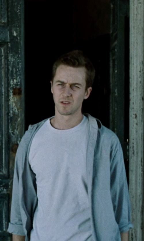 Edward Norton with Peter Millar Austin Zip-Front Jacket in Fight Club