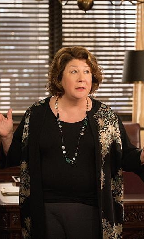 Margo Martindale with Stephen Dweck Turquoise & Red Agate Silver Necklace in The Good Wife