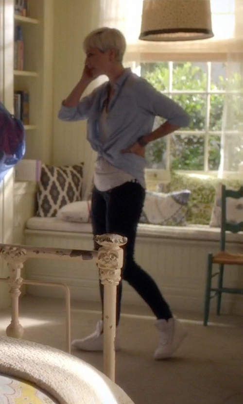 Dre Davis with Superga High Top Sneakers in Pretty Little Liars