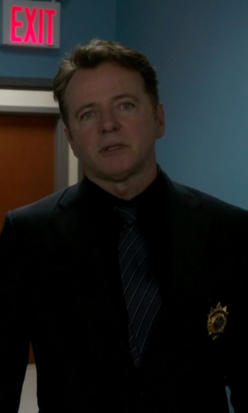 Aidan Quinn with Armani Collezioni Striped Tie in Elementary