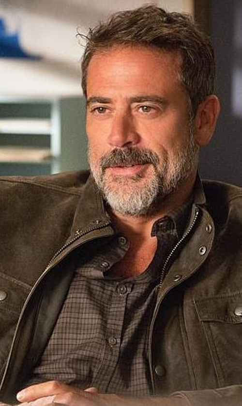 Jeffrey Dean Morgan with Dunhill Billy Check Cotton Shirt in The Good Wife