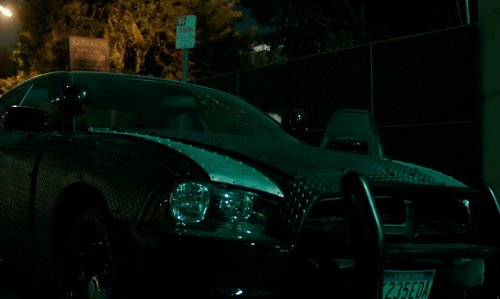 Frank Grillo with Dodge Charger in The Purge: Anarchy