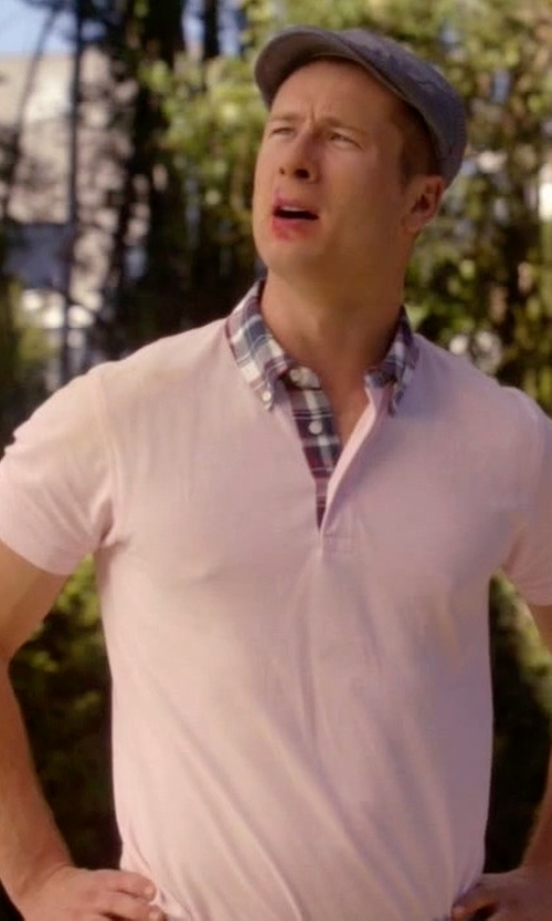 Glen Powell with Heritage Polo Shirt in Scream Queens