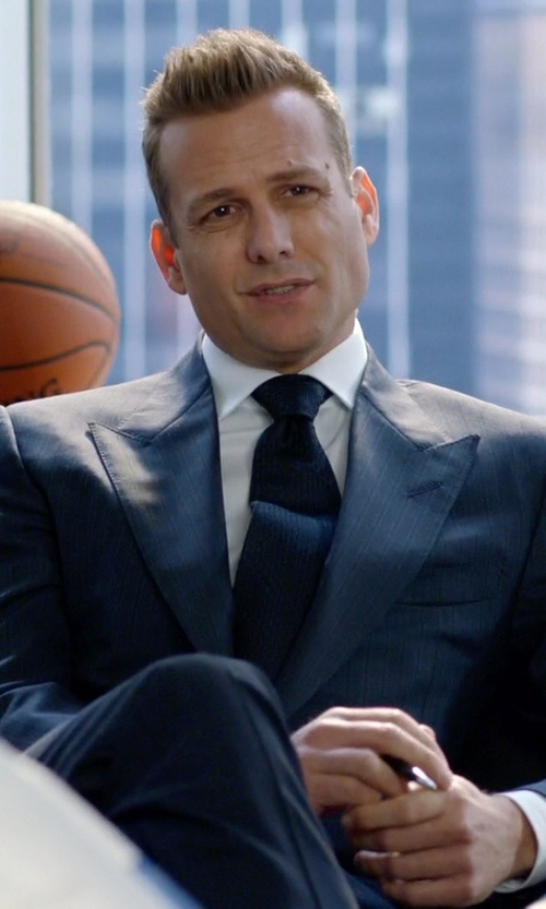 Gabriel Macht with Hilditch & Key Solid Royal Oxford Dress Shirt in Suits