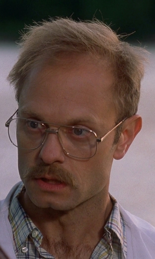 David Hyde Pierce with Ray Ban RX6049 Aviator Eyeglasses in Wet Hot American Summer