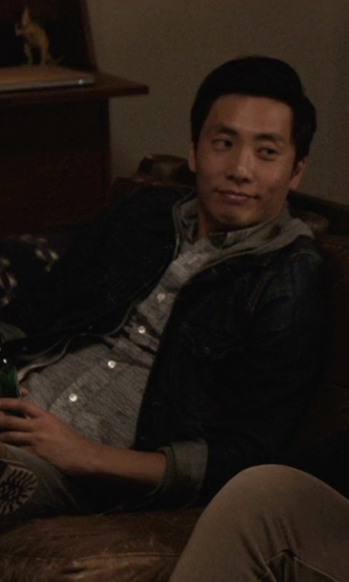 Kelvin Yu with Front Street Long Sleeve Sport Shirt in Master of None