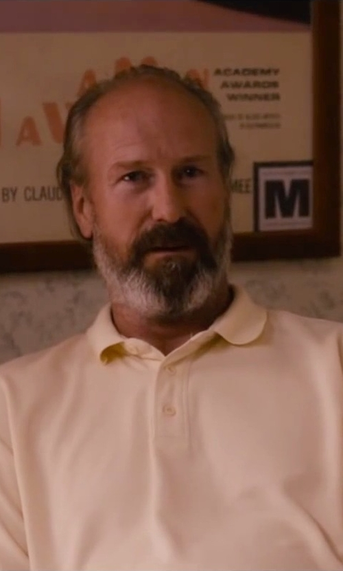 William Hurt with Cutter & Buck Men's Medina Tonal Polo Shirt in The Disappearance of Eleanor Rigby