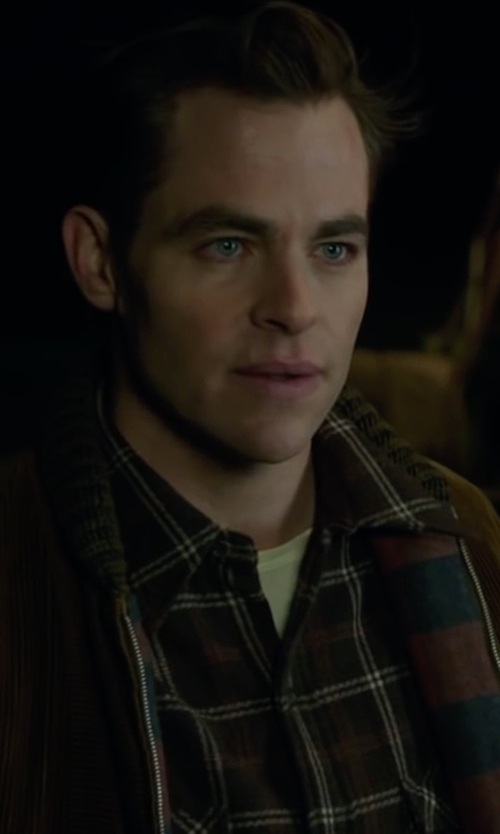 Chris Pine with Threads 4 Thought Plaid Sherpa-Lined Work Shirt in The Finest Hours
