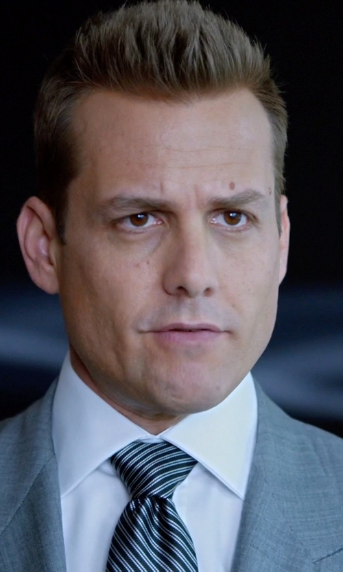 Gabriel Macht with Saks Fifth Avenue Striped Silk Tie in Suits