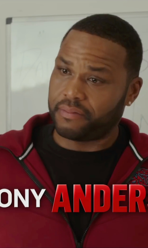 Anthony Anderson with Antigua New York Red Bulls Signature Full-Zip Hoodie Jacket in Barbershop: The Next Cut