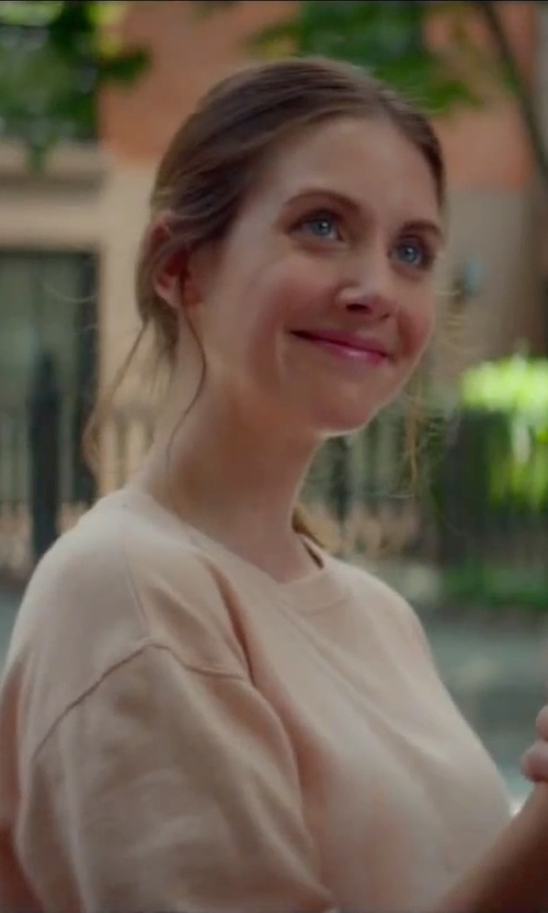 Alison Brie with DKNY Cropped Sweater in Sleeping with Other People