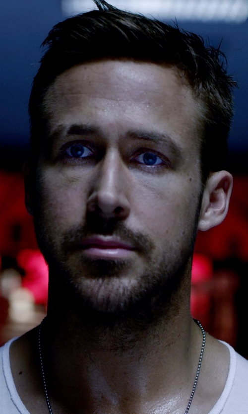 Ryan Gosling with David Yurman Medium Box Chain Necklace in Only God Forgives