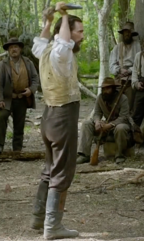 Matthew McConaughey with Canali Wool Twill Flat Front Dress Pants in Free State of Jones