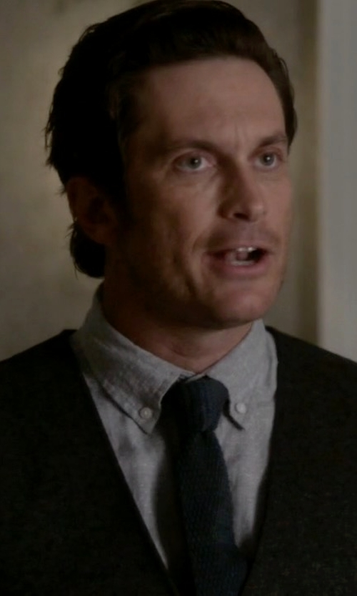 Oliver Hudson with Gilded Age Flight Shirt in Scream Queens