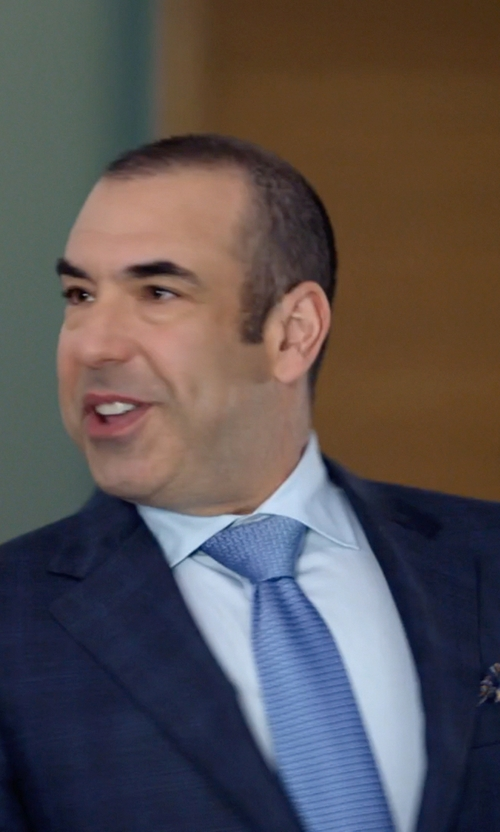 Rick Hoffman with Brioni Woven Iridescent Microneat Tie in Suits