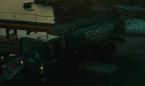 Elyes Gabel with Mack MR688 Flat Nose Truck in A Most Violent Year