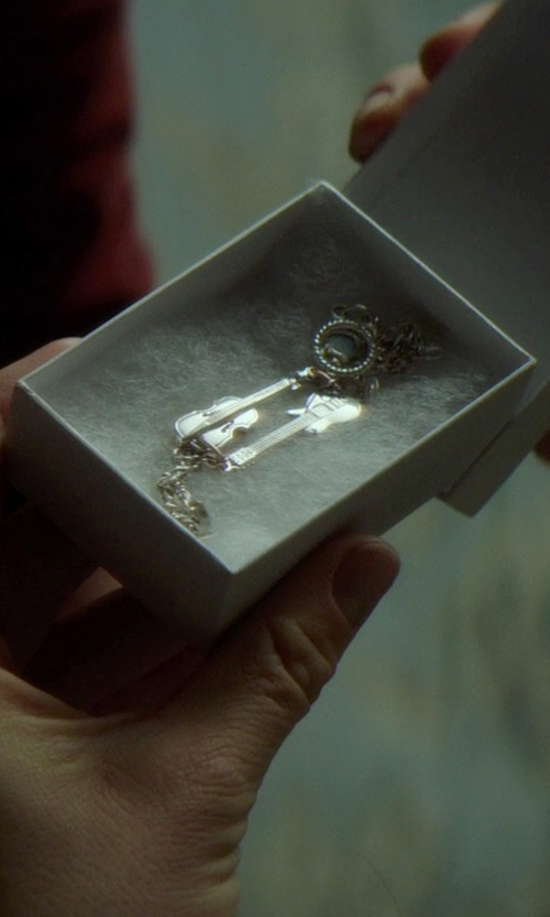 Chloë Grace Moretz with Monique Prudhomme (Costume Designer) Custom Made Cello & Guitar Silver Charm Bracelet in If I Stay