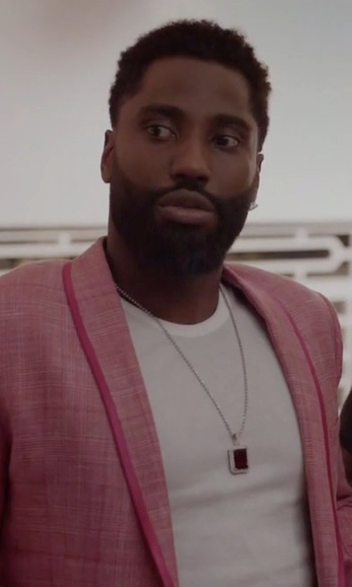 John David Washington with Saks Fifth Avenue Collection Samuelsohn Herringbone Sportcoat in Ballers
