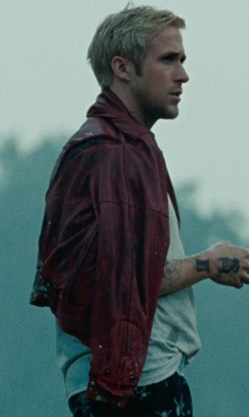 Ryan Gosling with Firstgear Leather Motorcycle Jacket in The Place Beyond The Pines