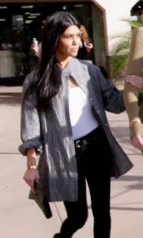 Kourtney Kardashian with Celine Flap Clutch Bag in Keeping Up With The Kardashians