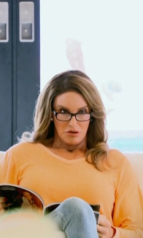 Caitlyn Jenner with Ralph Lauren  V-Neck Sweater in Keeping Up With The Kardashians