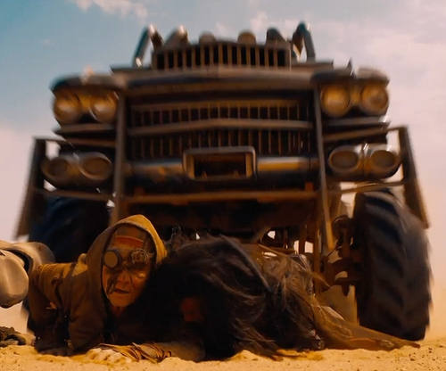 Hugh Keays-Byrne with Cadillac Modified 1959 Coupe/Monster Truck (Gigahorse) in Mad Max: Fury Road