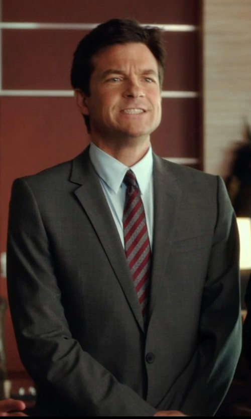 Jason Bateman with Hugo Boss Grand Central Pindot Two-Piece Suit in Horrible Bosses 2